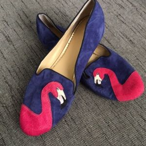 C Wonder Flamingo Blue suede Loafers 9